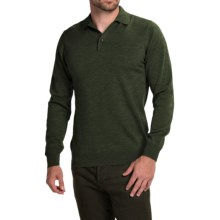 Barbour Land Rover Eastnor Sweater - Merino Wool (For Men) in Dark Olive - Closeouts