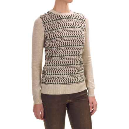 Barbour Land Rover Stydon Sweater - Lambswool (For Women) in Pearl Marl - Closeouts