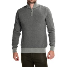 Barbour Land Rover Trail Sweater - Wool-Cashmere, Zip Neck (For Men) in Grey Marl - Closeouts