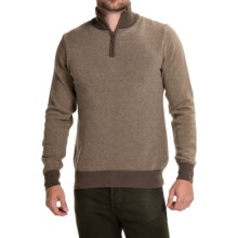 Barbour Land Rover Trail Sweater - Wool-Cashmere, Zip Neck (For Men) in Sandstone - Closeouts