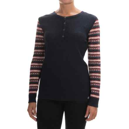 Barbour Landry Knit Sweater - Merino Wool Blend (For Women) in Naval Blue - Closeouts