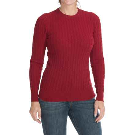 Barbour Langdale Lambswool Cable-Knit Sweater (For Women) in Chilli Red - Closeouts