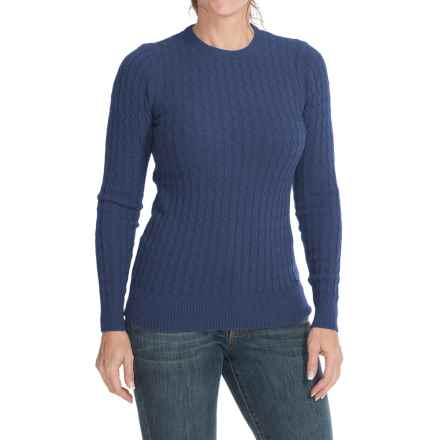Barbour Langdale Lambswool Cable-Knit Sweater (For Women) in Indigo - Closeouts