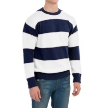 Barbour Langstone Linen-Cotton Sweater (For Men) in Navy - Closeouts