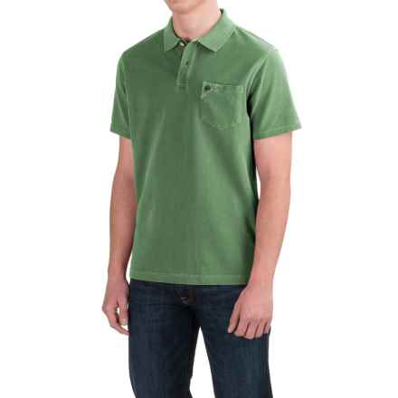 Barbour Laundered Polo Shirt - Garment Dyed, Short Sleeve (For Men) in Lawn - Closeouts