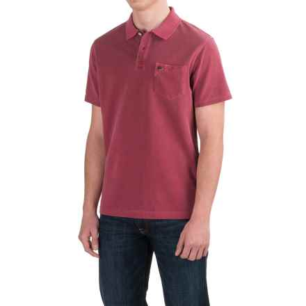 Barbour Laundered Polo Shirt - Garment Dyed, Short Sleeve (For Men) in Raspberry - Closeouts