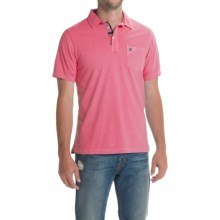 Barbour Laundered Polo Shirt - Short Sleeve (For Men) in Candy - Closeouts