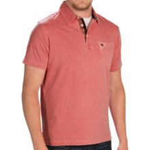 Barbour Laundered Polo Shirt - Short Sleeve (For Men) in Flame - Closeouts