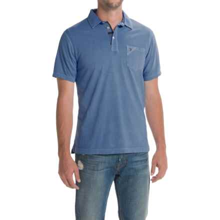 Barbour Laundered Polo Shirt - Short Sleeve (For Men) in Marine Blue - Closeouts