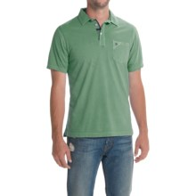 Barbour Laundered Polo Shirt - Short Sleeve (For Men) in Neveda Green - Closeouts