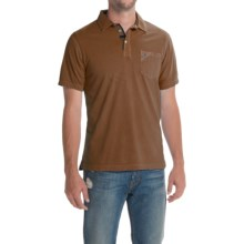 Barbour Laundered Polo Shirt - Short Sleeve (For Men) in Sandstone - Closeouts