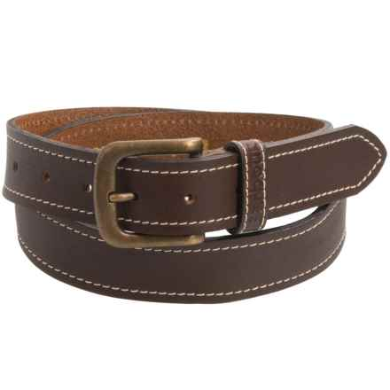 Barbour Leather Belt (For Men) in Brown - Closeouts