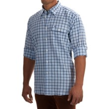 Barbour Lens Shirt - Button Front, Long Sleeve (For Men) in Navy Check - Closeouts