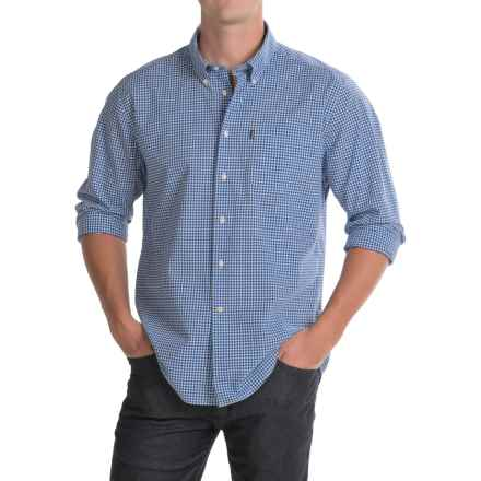 Barbour Leonard Shirt - Button-Down Collar, Long Sleeve (For Men) in Marine - Closeouts