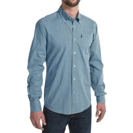 Barbour Leonard Shirt - Button-Down Collar, Long Sleeve (For Men) in Midnight - Closeouts