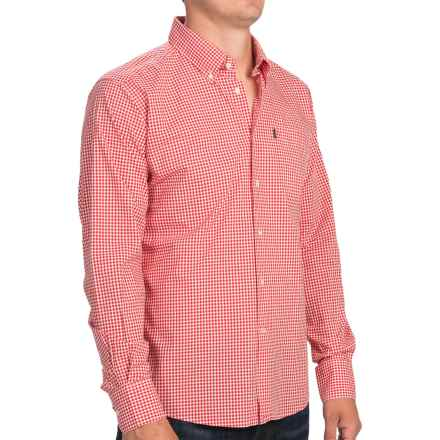 Barbour Leonard Shirt - Button-Down Collar, Long Sleeve (For Men) in Pillar Box Red Check - Closeouts