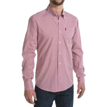 Barbour Leonard Shirt - Button-Down Collar, Long Sleeve (For Men) in Raspberry - Closeouts