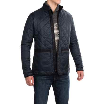 Barbour Liddesdale Quilted Jacket - Insulated, Tweed Trim (For Men) in Navy - Closeouts