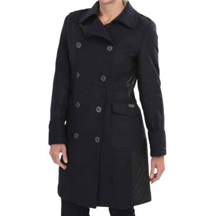 Barbour Lieutenant Double-Breasted Peacoat - Wool-Cashmere (For Women) in Navy/Compass - Closeouts