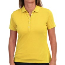 Barbour Lowesstoft Polo Shirt - Stretch Cotton, Short Sleeve (For Women) in Yellow - Closeouts