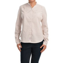 Barbour Lupin Collarless Poplin Shirt - Long Sleeve (For Women) in Summer Rose/Tattersall - Closeouts