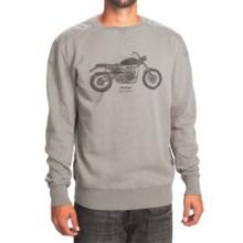 Barbour Machine Sweatshirt - Crew Neck (For Men) in Grey Marl - Closeouts