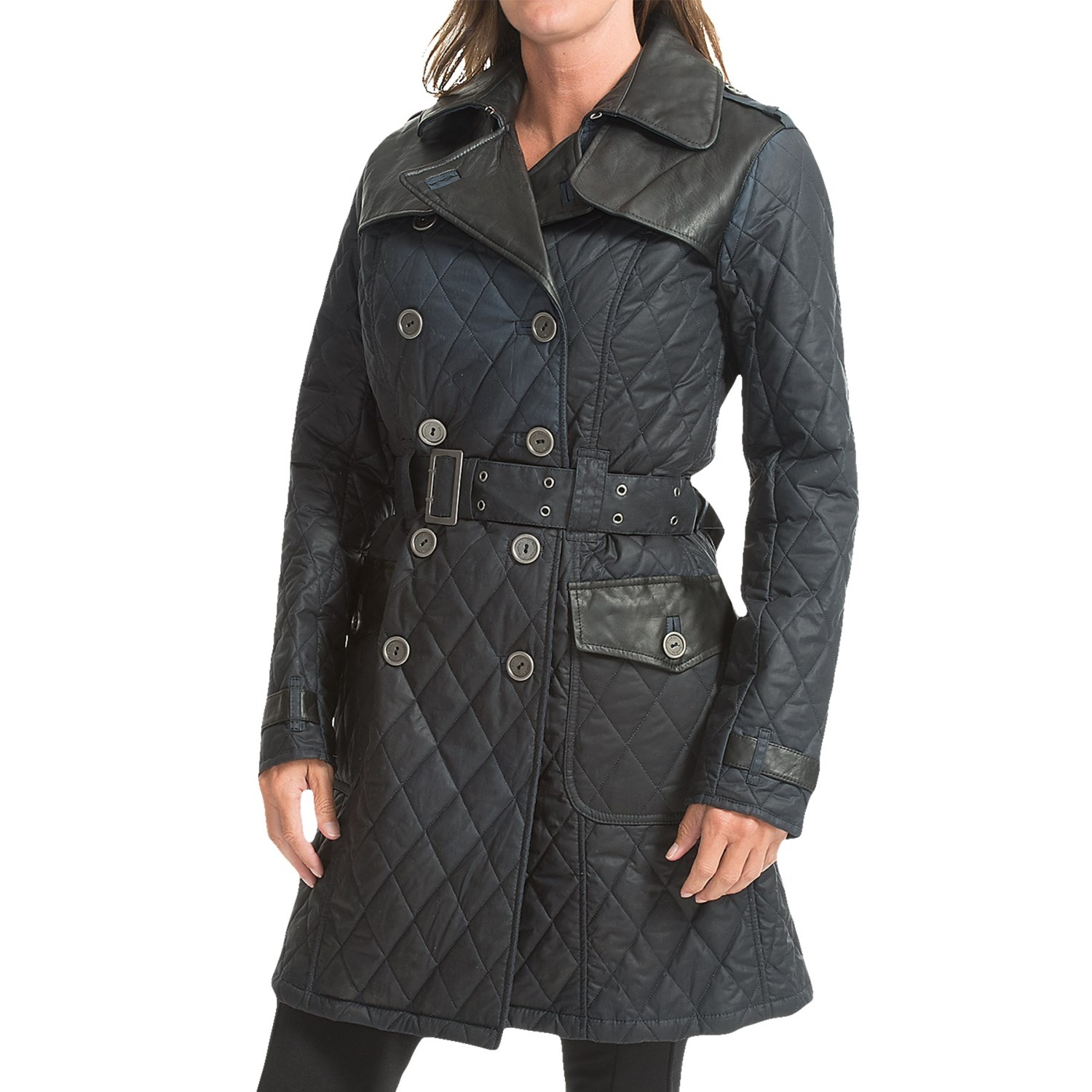 Barbour womens double breasted navy peacoat