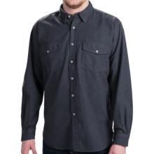 Barbour Mandrake Flannel Shirt - Long Sleeve (For Men) in Navy - 2nds