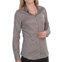 Barbour Maria Houndstooth Shirt - Cotton-Silk, Long Sleeve (For Women) in Black Check - Closeouts