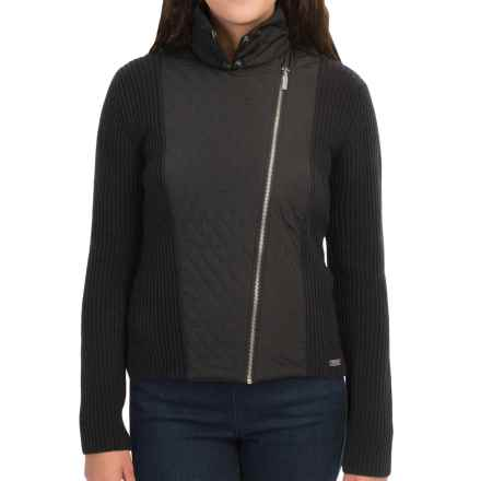 Barbour Marianne Zip Cardigan Sweater - Lambswool (For Women) in Black - Closeouts