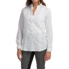 Barbour Marigold Pintuck Tunic Shirt - Long Sleeve (For Women) in White - Closeouts