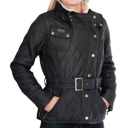 Barbour Matlock Moto Jacket - Sherpa Lined (For Women) in Black - Closeouts
