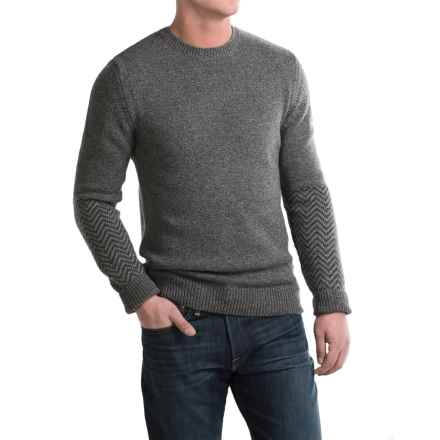 Barbour Melton Lambswool Sweater - Crew Neck (For Men) in Mid Grey - Closeouts