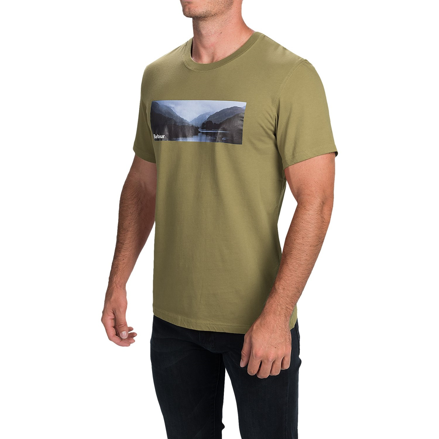 Barbour mens printed cotton t shirt for men save 59 for Printed shirts for mens
