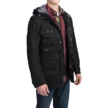 Barbour Military Thornproof Jacket - Waxed Cotton (For Men) in Black - Closeouts