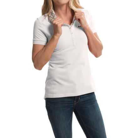 Barbour Miller Pique Polo Shirt - Stretch Cotton, Short Sleeve (For Women) in White - Closeouts