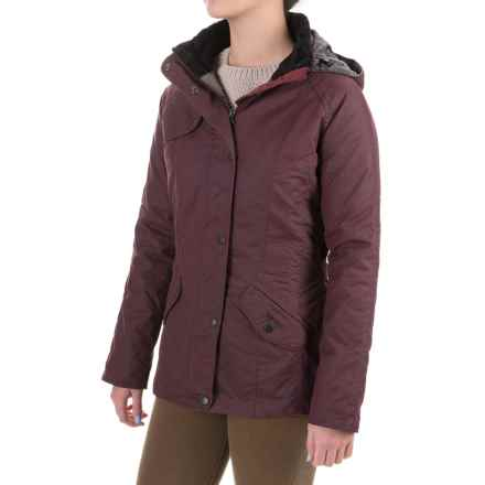 Barbour Millfire Waxed-Cotton Jacket - Waterproof, Insulated (For Women) in Bordeaux - Closeouts