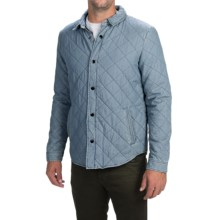 Barbour Mined Quilted Overshirt Jacket (For Men) in Sky - Closeouts