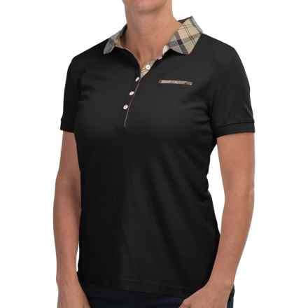 Barbour Mollard Polo Shirt - Slim Fit, Short Sleeve (For Women) in Navy - Closeouts