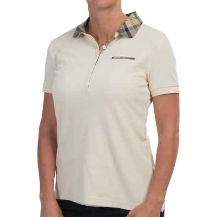 Barbour Mollard Polo Shirt - Slim Fit, Short Sleeve (For Women) in Pearl - Closeouts