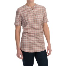 Barbour Monarch Cotton Shirt - Short Sleeve (For Women) in Pink Check - Closeouts