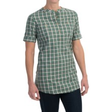 Barbour Monarch Cotton Shirt - Short Sleeve (For Women) in Thyme Check - Closeouts