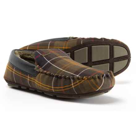 Barbour Monty Classic House Slippers - Suede (For Men) in Classic Tartan - Closeouts