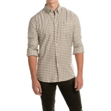 Barbour Monty Gingham Check Flannel Shirt - Long Sleeve (For Men) in Militarty Marl Check - Closeouts