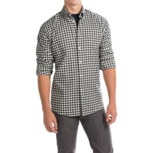 Barbour Monty Gingham Check Flannel Shirt - Long Sleeve (For Men) in Navy Check - Closeouts
