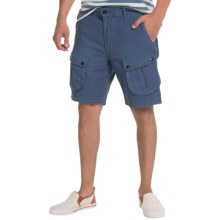 Barbour Mountain Cotton Twill Shorts (For Men) in Blue - Closeouts