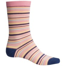 Barbour Multi-Stripe Socks - Crew (For Women) in Mid Navy - Closeouts