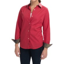 Barbour Naddle Stretch Cotton Shirt - Long Sleeve (For Women) in Chilli Red/Tartan - Closeouts