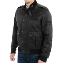 Barbour Nati Quilted Jacket - Sherpa-Lined (For Men) in Black - Closeouts