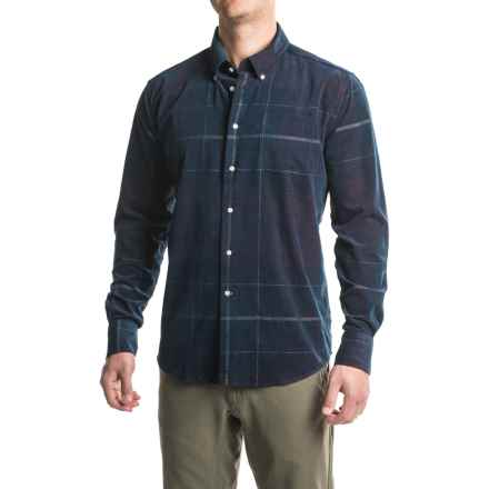 Barbour Nauton Shirt - Long Sleeve (For Men) in Merlot - Closeouts